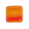 Glass Pressed Beads 8X10mm Cubes Dark Salmon
